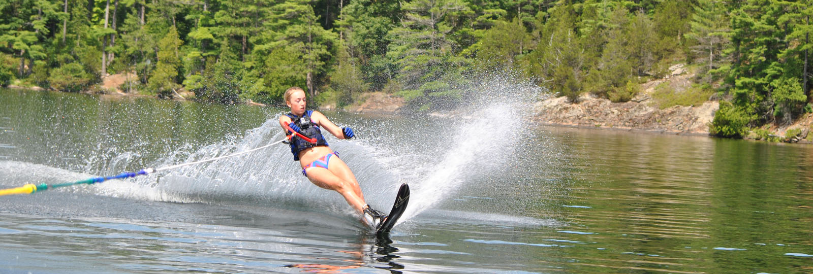 Girl water skiing on Charleston Lake