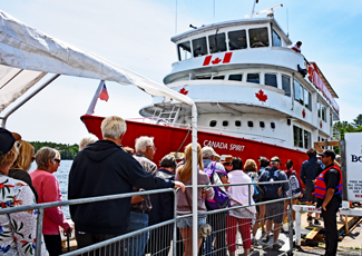 Rockport Boat Lines Canada Spirit boat loading passengers