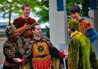 Actors in a St. Lawrence Shakespeare Festival play.